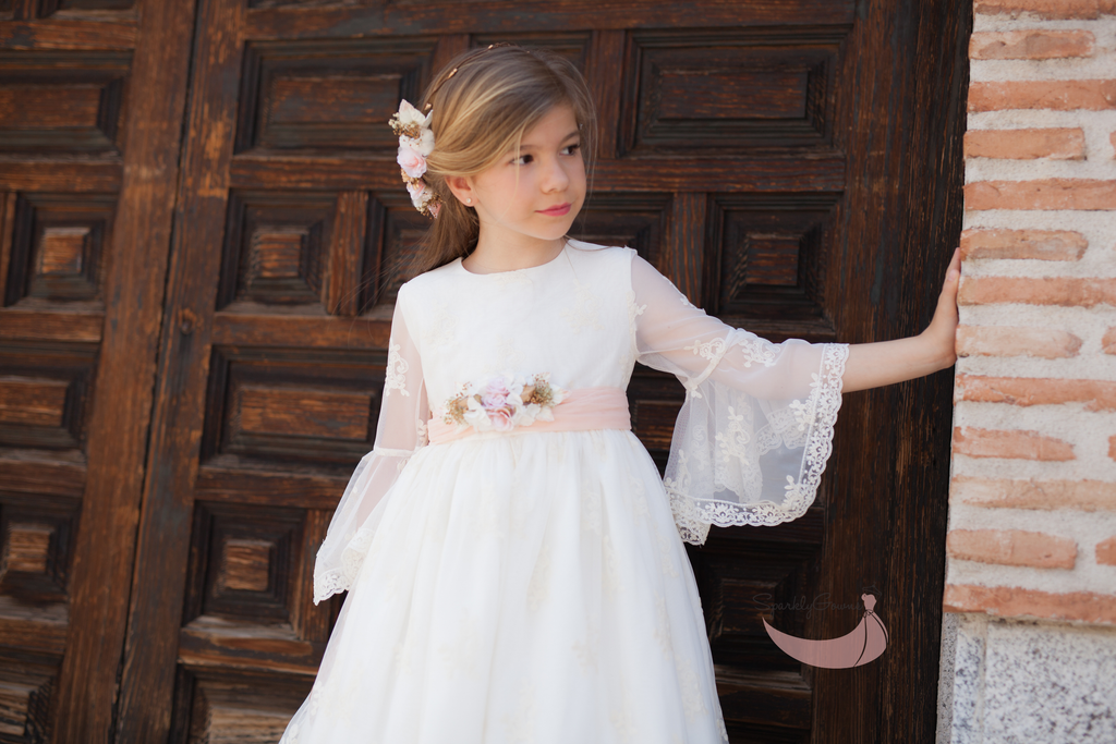 J'adore 3/4 Sleeves First Communion Gown by Para Sofia
