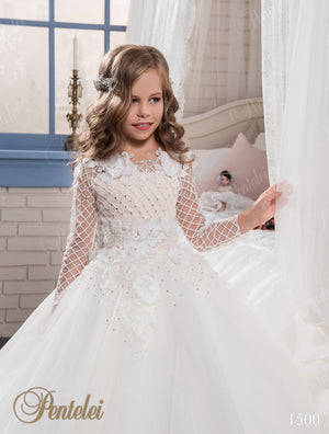Long Sleeve First Communion Girl Dress