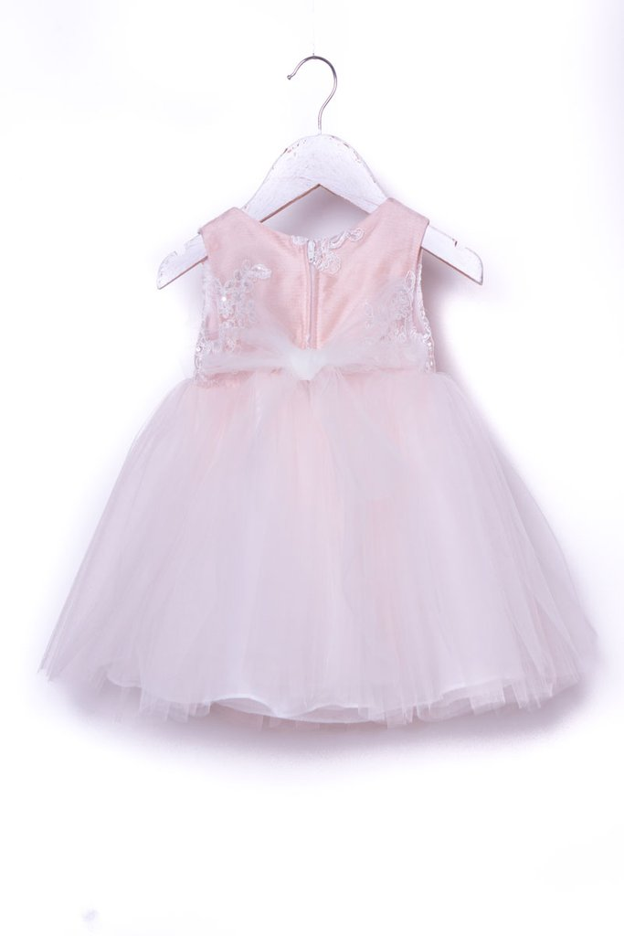 Lovely Silk Top Dress Tulle Skirt for Baby Girls