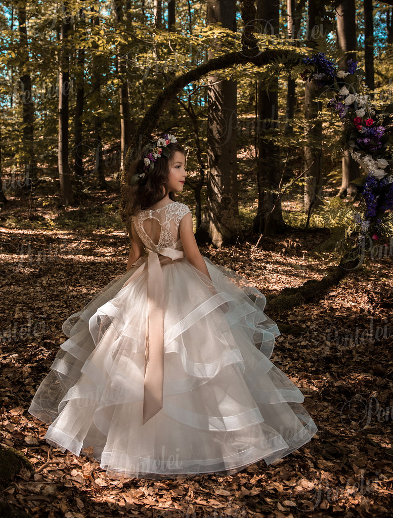 Pentelei Model 2147 Flower Girl Ball Gown