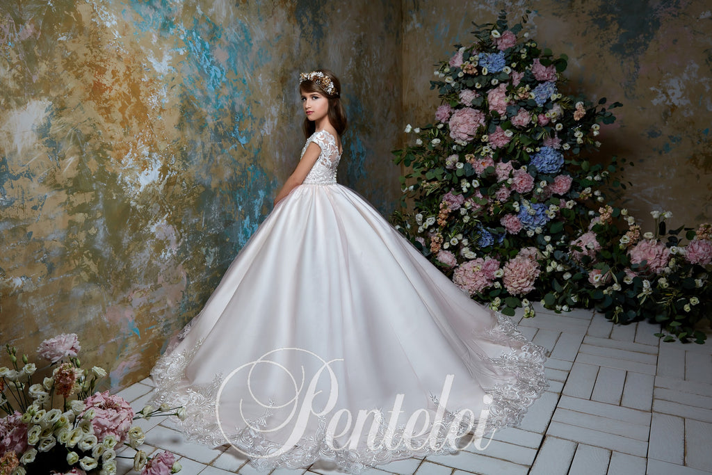 Short Sleeve Lush Ball Gown Pentelei 2317