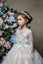 3D Flower Appliqués on Tulle Skirt Flower Girl First Communion Dress Pentelei 2320
