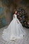 3/4 Sleeves Luxurious Brocade  Jacquard Princess Communion Gown Pentelei 2353