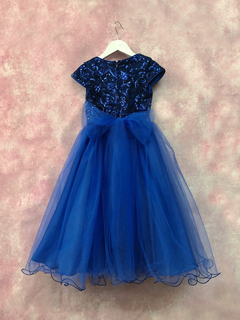Glamorous Sequin Top ant Tulle with belt accessory Holiday Dress