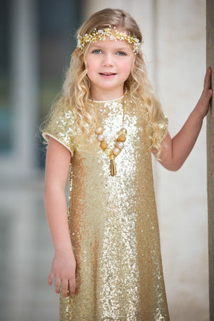 Sequin Girl Dress Holiday or Birthday Dress.
