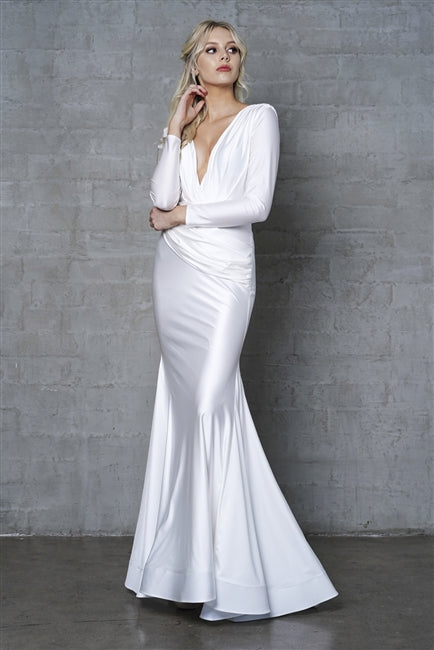 Long Sleeve Wedding Dress 381