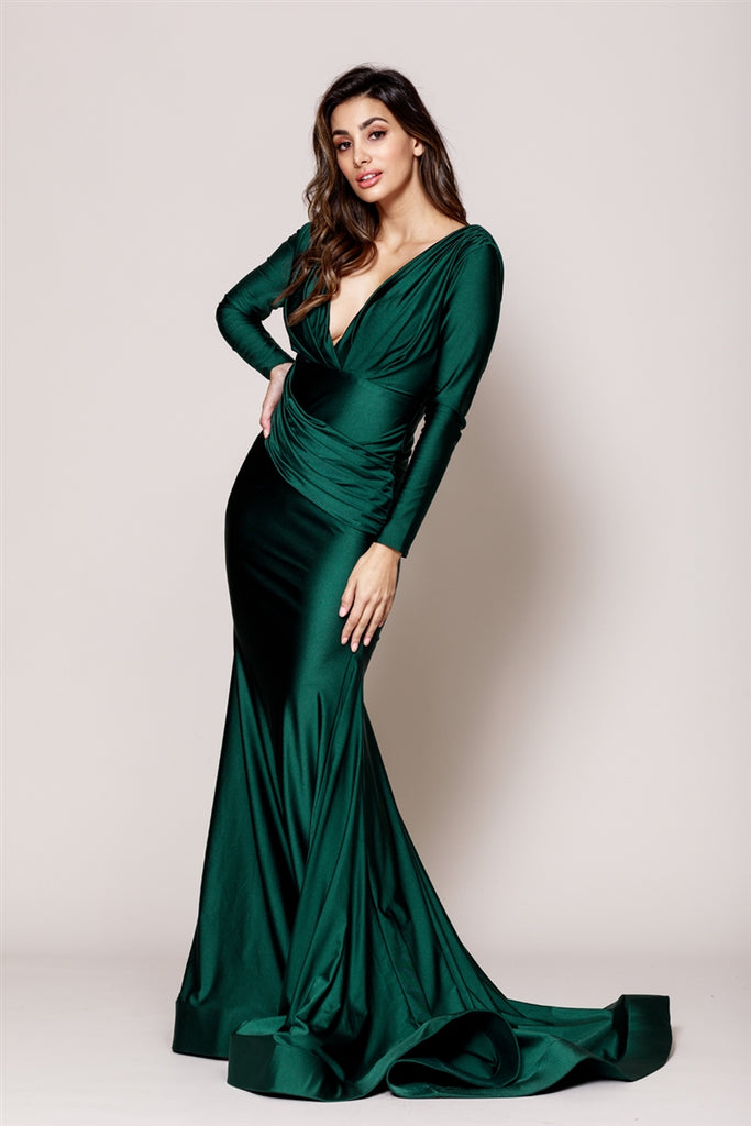 Long Sleeves Evening Dresses