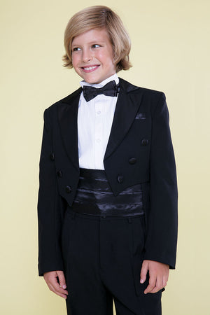Boy's Tuxedo with Tail perfect for  Ringer Bearer, Communion, Size  2 to 20