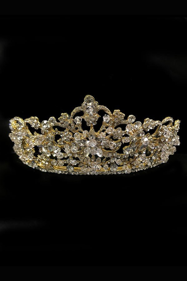 Crystal Tiara Crown Little Girls Hair Accessories TR-40439
