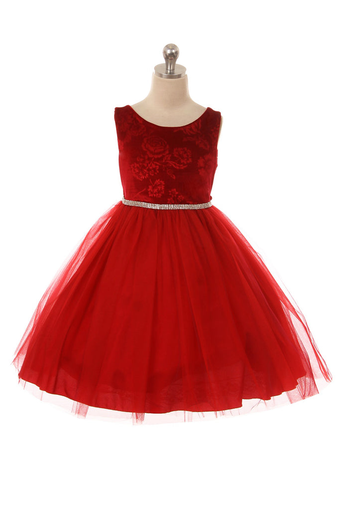 Velvet and Tulle Winter Girl Dress