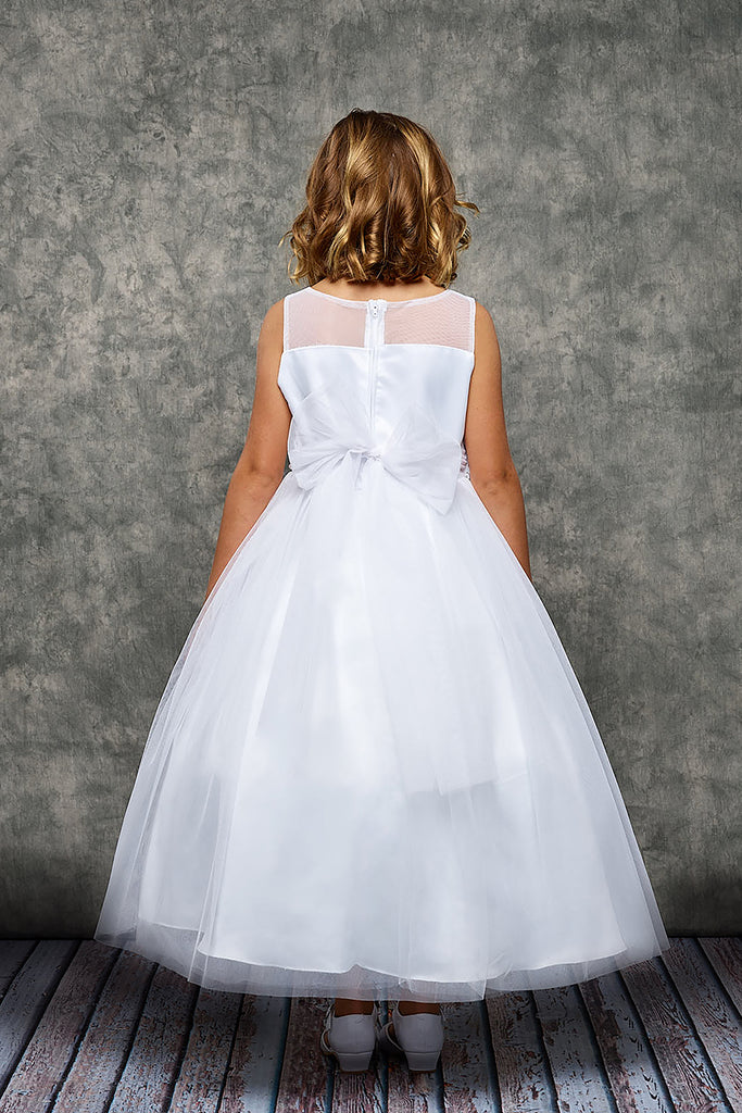 Venetian Lace Illusion First Communion Dress
