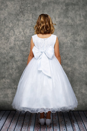 Lace Glitter Tulle First Communion Dress 468