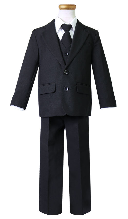 Boy's 5 pieces 2 button Suit for Ringer Bearer, First Communion, Special Occasions.