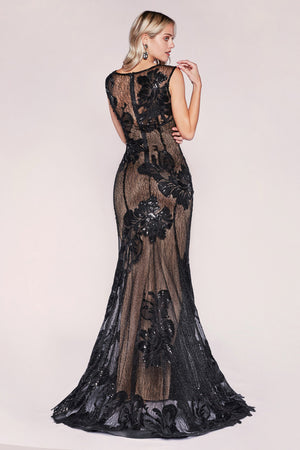 Andrea & Leo Couture 5024 Lace and Embroider Elegant Dress in Stock