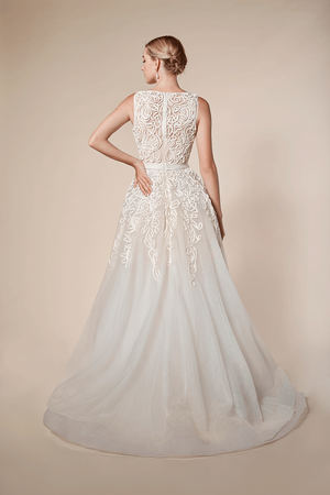 Andrea & Leo Couture 5143 Soutache Embellished Off White Gown