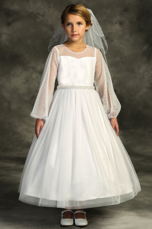 Sleeves first Communion Dress 516