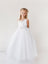 Delicate Glitter V Neckline Tulle Flower Girl Dress