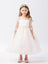3/4 Soft Lace Sleeve Dress with Tulle Skirt 5724
