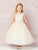 Sleeveless Illusion Lace Top, Tulle Skirt Flower Girl Dress 5747