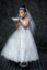 Lace  Tulle Illusion Neckline First Communion Flower Girl Dress
