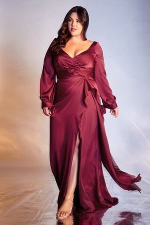 Curves Plus Sizes Evening Gown