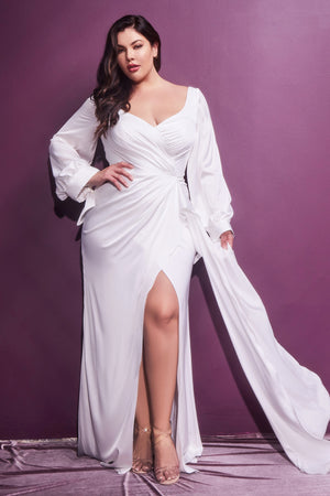 Satin Plus Size Wedding dress