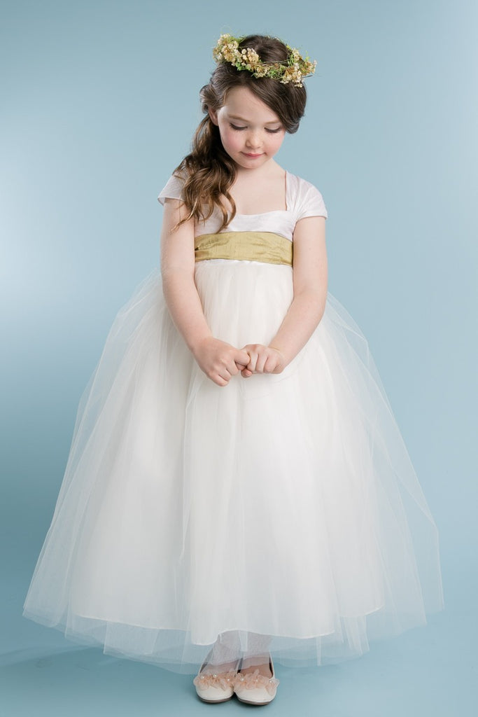 Gorgerous silk top and tulle flower girl, graduation, special occasion dress.