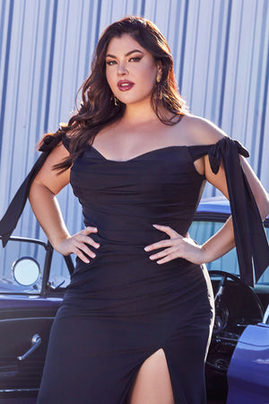 Plus sizes Black Evening Dress