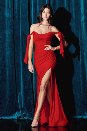 Affordable red evening dress