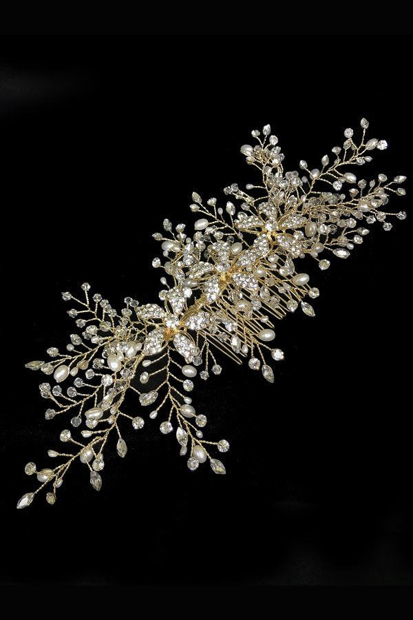 Hair Comb Communion Flower Girl Headpiece TR-40436