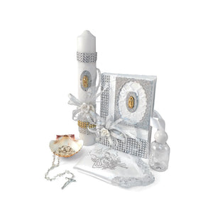 Set of  Candles First Communion Baptism Accessories Style  SB3847