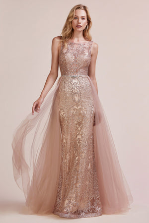 Andrea & Leo Couture A0657 Elegant Sheath Glitter Evening Gown