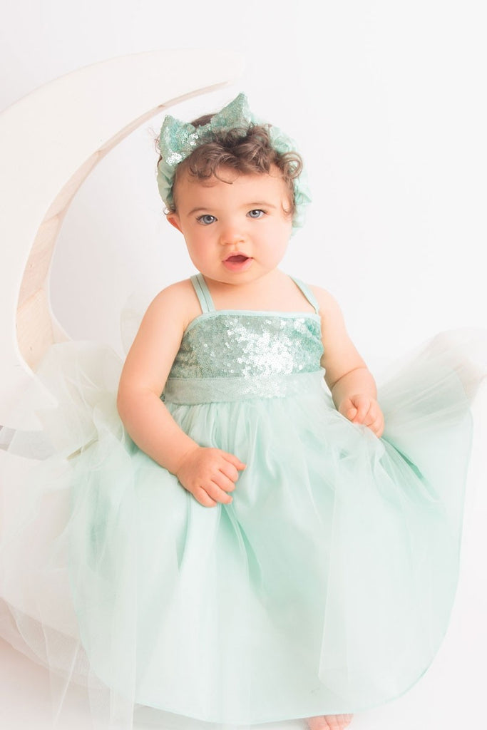 Sequin Top Tulle Skirt Baby Dress