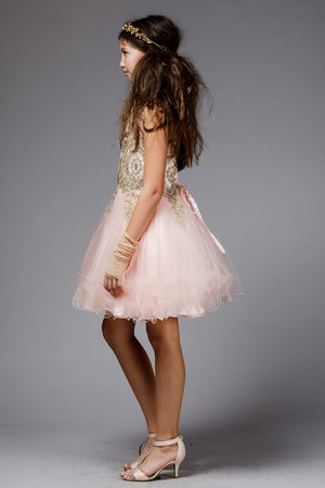 Knee Lengh Dress for Junior Bridesmaid or Flower Girl
