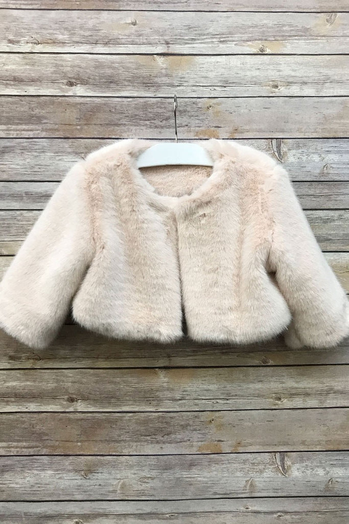 Glamorous Faux Fur Jacket for little Girls