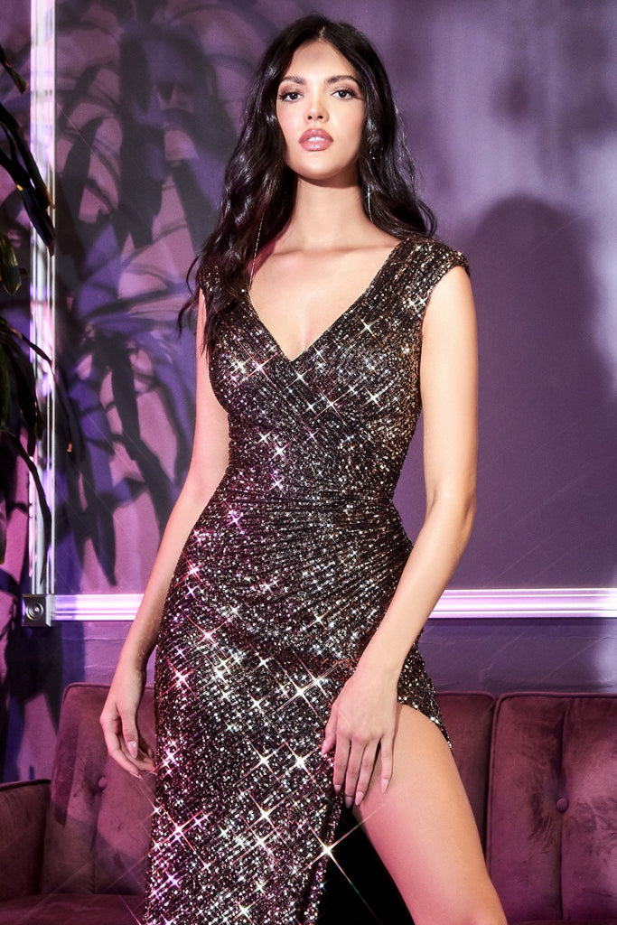Curves Sequin Evening Gown
