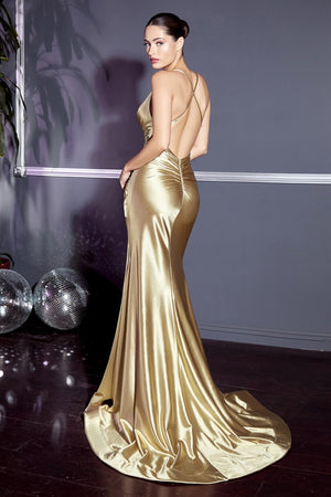 Open Back Prom Dress