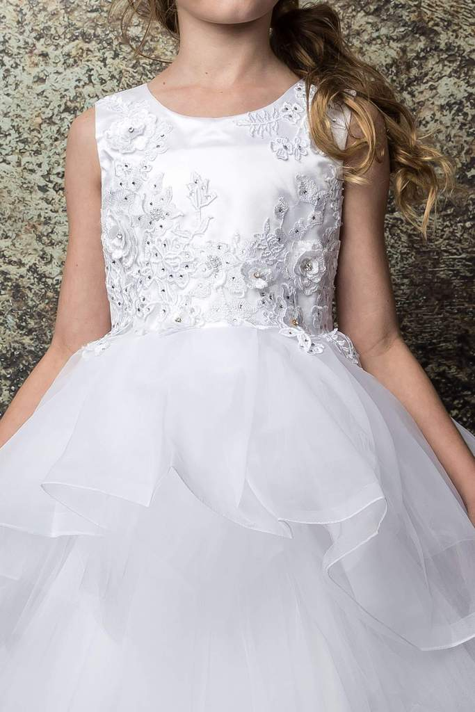 Alluring Tutu Multi-Tiered Tulle First Communion Dress