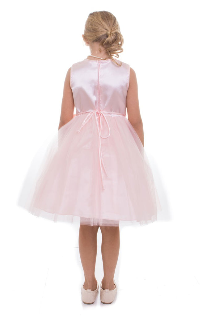 Sequin Top with Tulle Skirt and Charmeuse Silk Bow