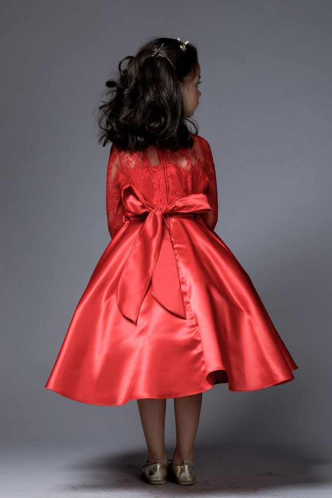 Elegant and Comfortable  Satin Skirt 3/4 sleeves dress.