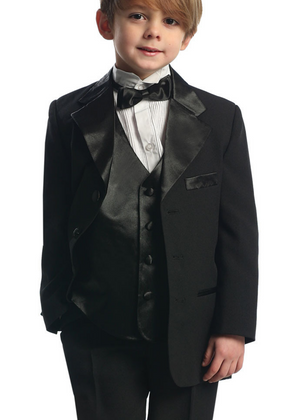 Baby Boy's Tuxedo with Vest for Christening, Ring Bearer.