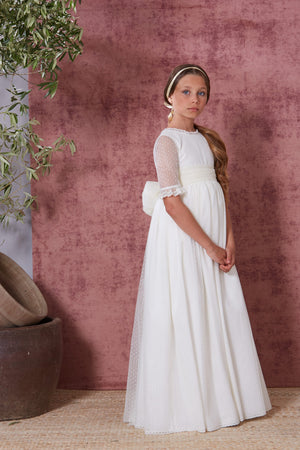 Puntilla Communion Gown