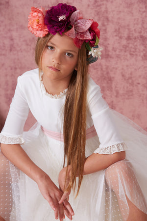 Flor de C Communion GOwn