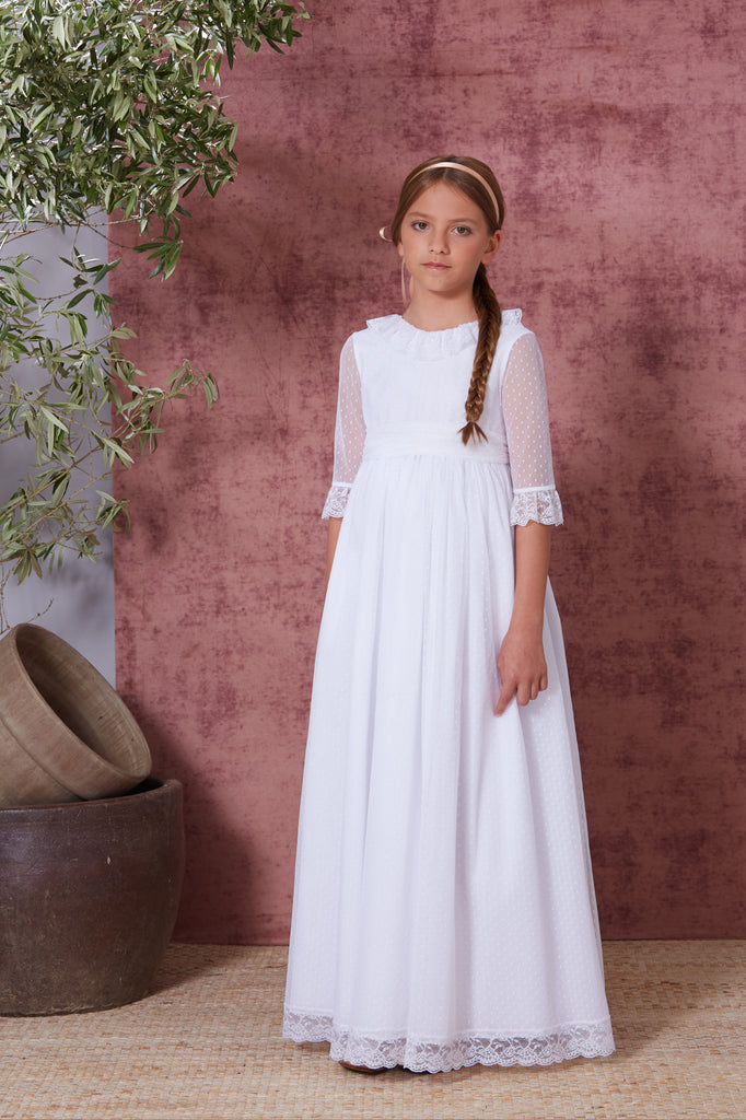 White Spanish Gown