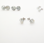 Load image into Gallery viewer, raw aquamarine studs