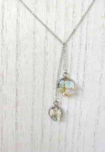 raw welo opal dainty lariat necklace
