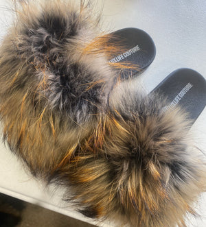 Raccoon Remix Slipper (Orange Tips)