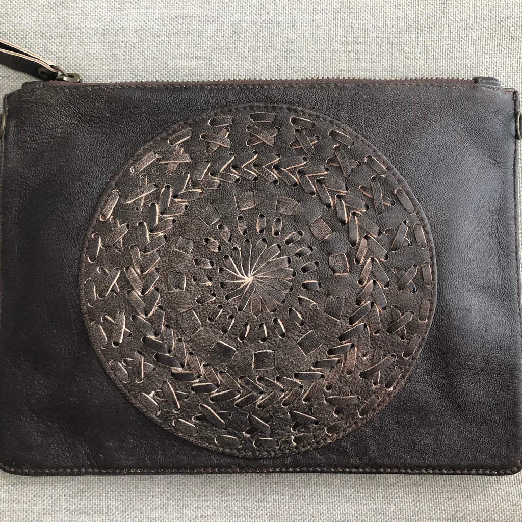 Mandala Clutch Bag - Leather
