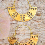 Brass Marai Earrings