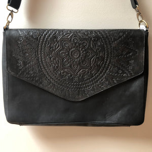 Mandala Laptop Bag - Black